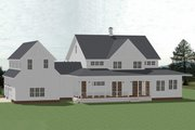 Farmhouse Style House Plan - 5 Beds 4.5 Baths 4357 Sq/Ft Plan #898-53 Exterior - Rear Elevation