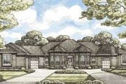 European Style House Plan - 4 Beds 3 Baths 2956 Sq/Ft Plan #20-1843 Exterior - Front Elevation