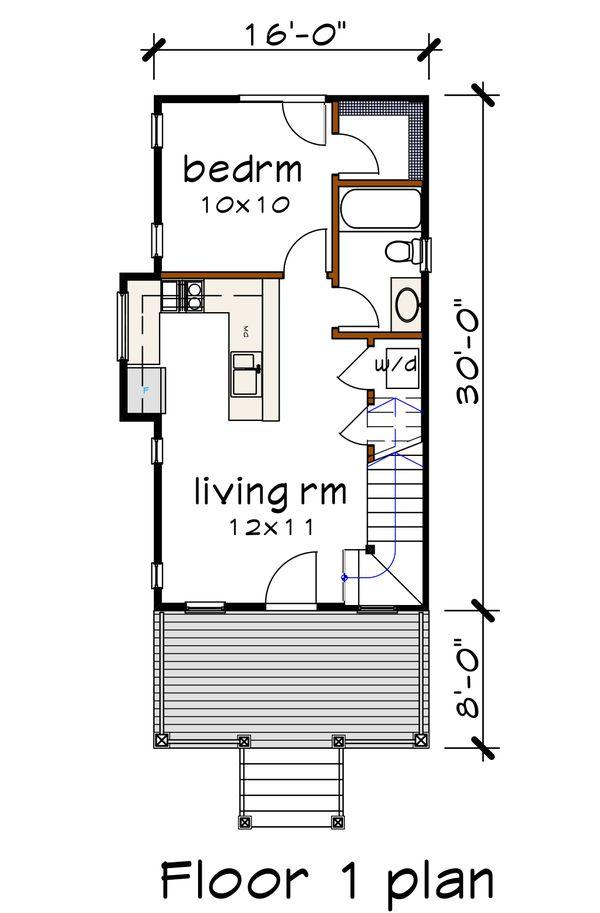 Bungalow Floor Plan - Main Floor Plan #79-308
