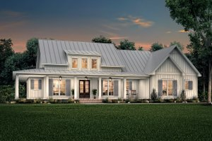 Dream House Plan - Farmhouse Exterior - Front Elevation Plan #430-223
