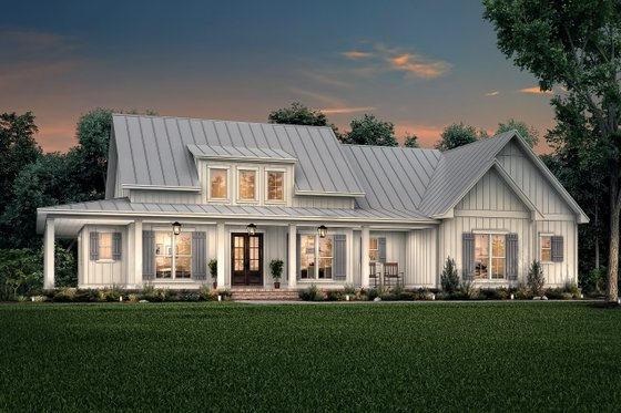 Farmhouse Exterior - Front Elevation Plan #430-223
