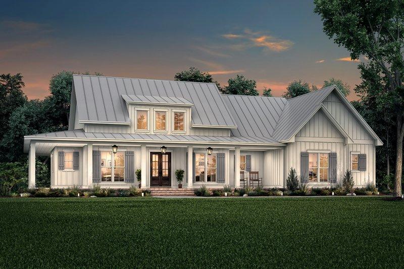 Dream House Plan - Farmhouse Exterior - Front Elevation Plan #430-223