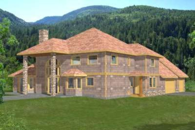 Modern Exterior - Front Elevation Plan #117-426