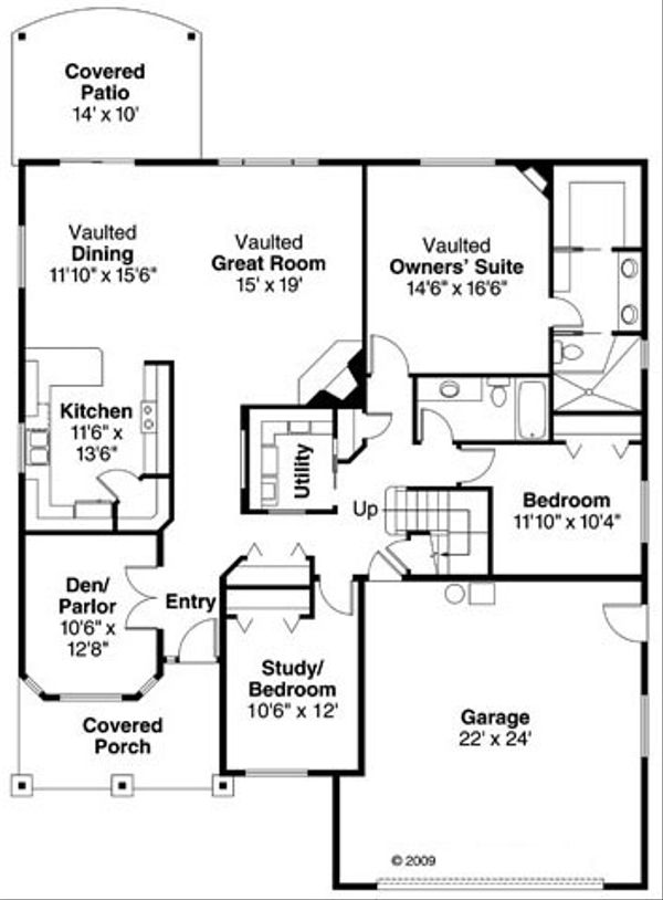 Traditional Floor Plan - Main Floor Plan Plan #124-768