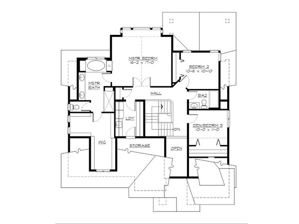 Cottage Floor Plan - Upper Floor Plan Plan #132-567