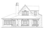 Bungalow Style House Plan - 3 Beds 2.5 Baths 2087 Sq/Ft Plan #410-241 Exterior - Front Elevation