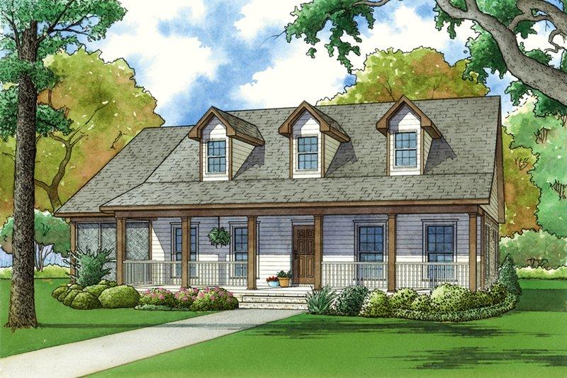 Dream House Plan - Farmhouse Exterior - Front Elevation Plan #923-67