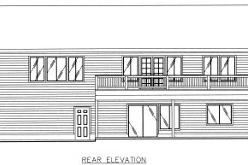 Traditional Exterior - Rear Elevation Plan #117-449 - Houseplans.com