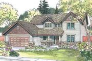 Craftsman Style House Plan - 4 Beds 2.5 Baths 2587 Sq/Ft Plan #124-508 Exterior - Front Elevation