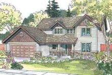 Craftsman Exterior - Front Elevation Plan #124-508