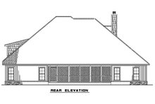 Ranch Exterior - Rear Elevation Plan #923-75