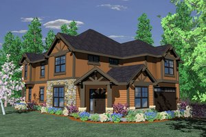 Craftsman Exterior - Front Elevation Plan #509-23