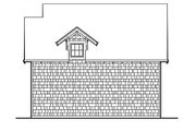 Craftsman Style House Plan - 1 Beds 0 Baths 633 Sq/Ft Plan #48-155 Exterior - Rear Elevation