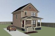Cottage Style House Plan - 3 Beds 1.5 Baths 1087 Sq/Ft Plan #79-120 Exterior - Other Elevation