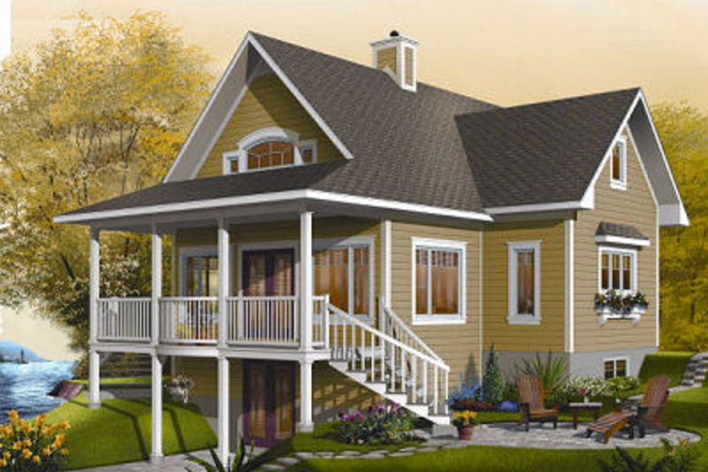 Country Exterior - Front Elevation Plan #23-757 - Houseplans.com