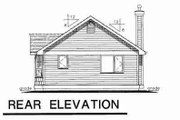 Cottage Style House Plan - 1 Beds 1 Baths 607 Sq/Ft Plan #18-4462 Exterior - Rear Elevation