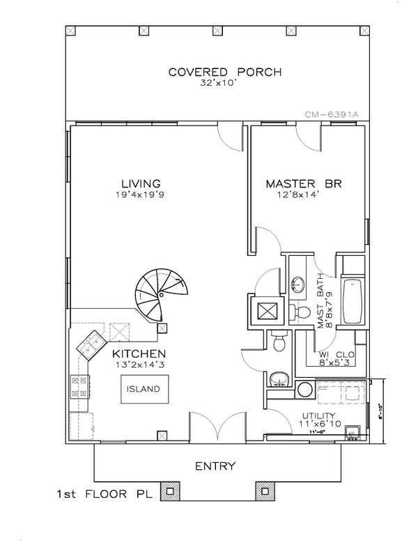 Beach Floor Plan - Main Floor Plan Plan #8-310