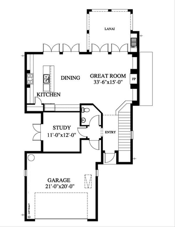 Beach Floor Plan - Main Floor Plan Plan #426-12