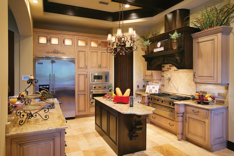 Mediterranean Interior - Kitchen Plan #930-22 - Houseplans.com