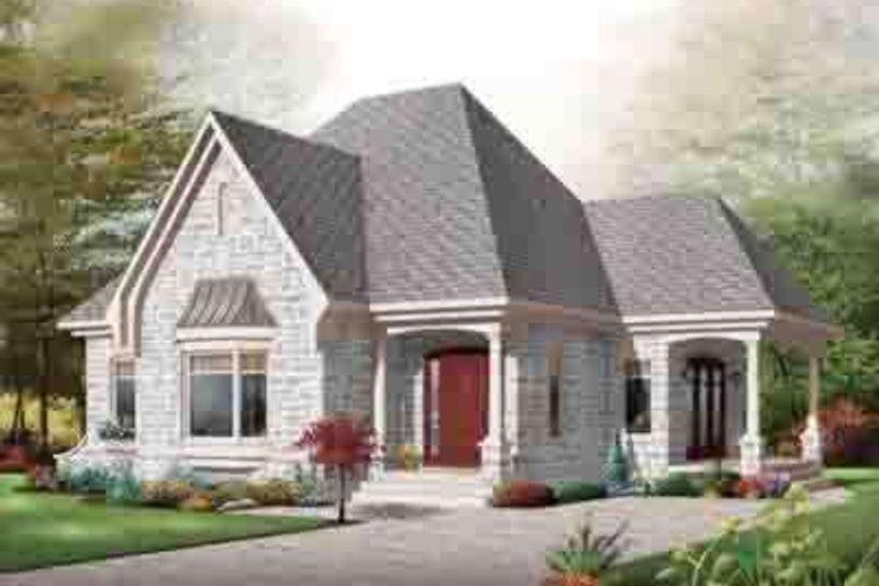 Home Plan - Cottage Exterior - Front Elevation Plan #23-621