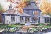 Contemporary Style House Plan - 2 Beds 1 Baths 1152 Sq/Ft Plan #23-2020 Exterior - Front Elevation