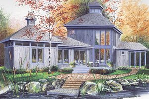 Contemporary Exterior - Front Elevation Plan #23-2020