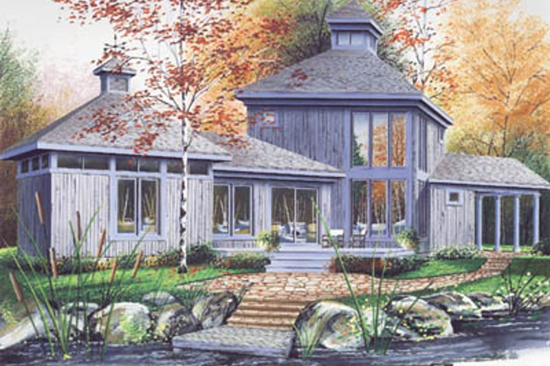 Home Plan - Contemporary Exterior - Front Elevation Plan #23-2020
