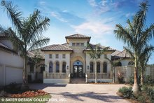 Mediterranean Exterior - Front Elevation Plan #930-92