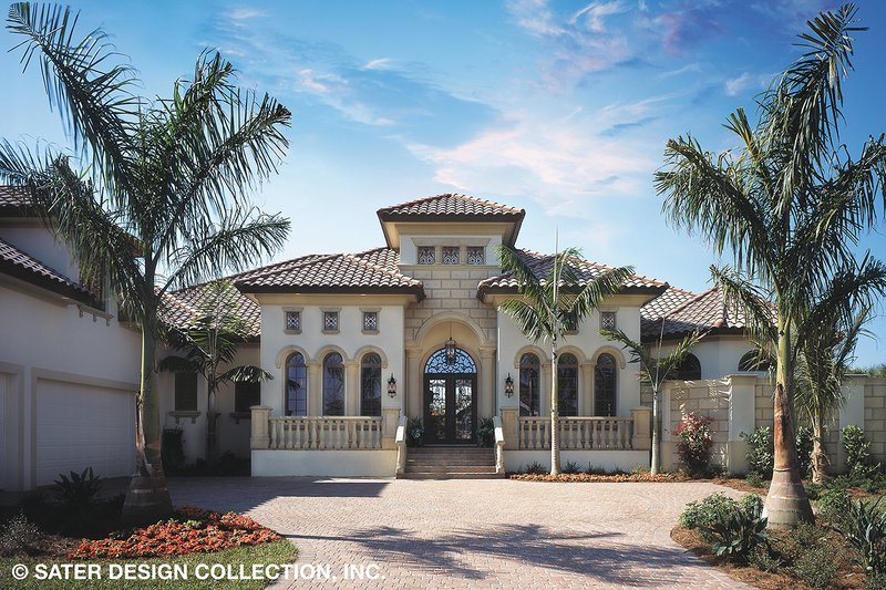 House Plan Design - Mediterranean Exterior - Front Elevation Plan #930-92