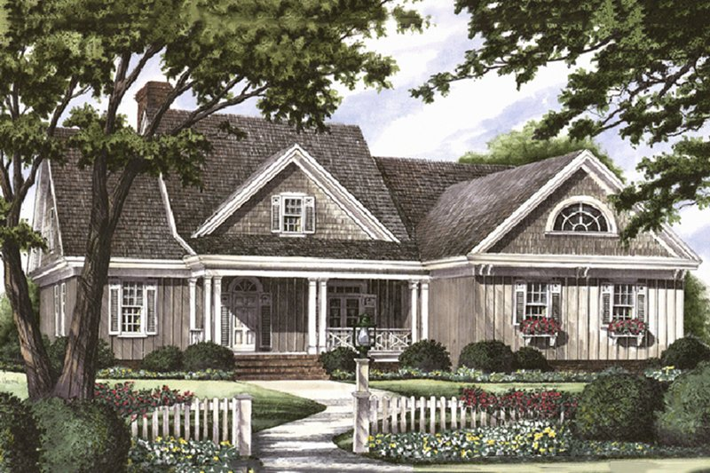 Southern Exterior - Front Elevation Plan #137-181 - Houseplans.com