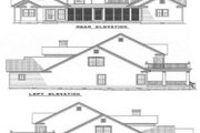 Country Style House Plan - 3 Beds 2.5 Baths 3706 Sq/Ft Plan #17-217 Exterior - Rear Elevation