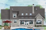 Craftsman Style House Plan - 4 Beds 3.5 Baths 2997 Sq/Ft Plan #929-1110 Exterior - Rear Elevation