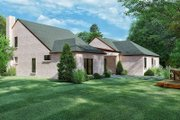 European Style House Plan - 4 Beds 3 Baths 2577 Sq/Ft Plan #923-167 Exterior - Other Elevation