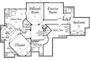 European Style House Plan - 5 Beds 6 Baths 6799 Sq/Ft Plan #458-4 Floor Plan - Lower Floor Plan