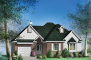 Traditional Style House Plan - 2 Beds 1 Baths 1096 Sq/Ft Plan #25-4824 Exterior - Front Elevation