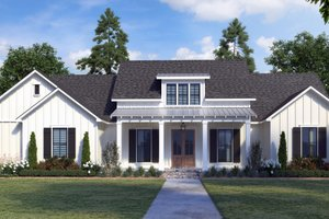 Farmhouse Exterior - Front Elevation Plan #1074-36