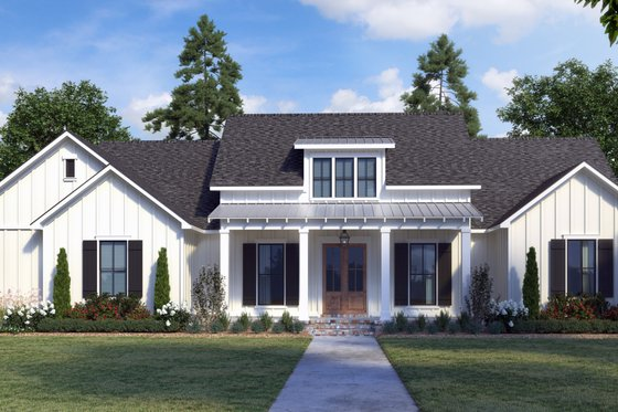 Architectural House Design - Farmhouse Exterior - Front Elevation Plan #1074-36
