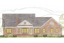 Dream House Plan - Traditional Exterior - Rear Elevation Plan #406-286
