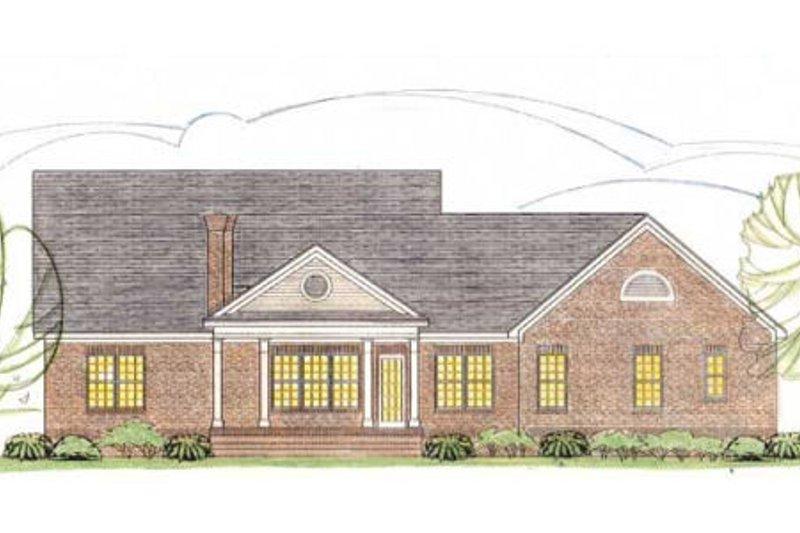 Traditional Exterior - Rear Elevation Plan #406-286 - Houseplans.com