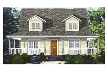 Home Plan - Southern Exterior - Front Elevation Plan #3-144