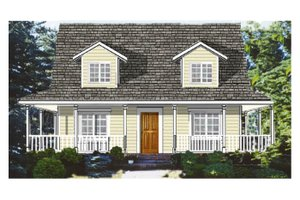 Architectural House Design - Southern Exterior - Front Elevation Plan #3-144
