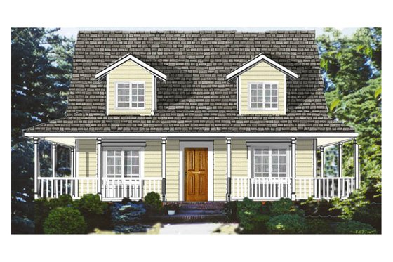 Southern Exterior - Front Elevation Plan #3-144