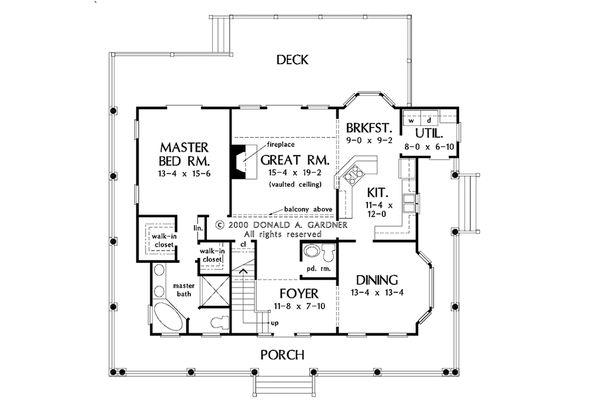 Country Floor Plan - Main Floor Plan #929-48