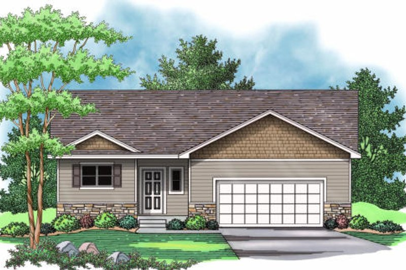 Traditional Exterior - Front Elevation Plan #51-372 - Houseplans.com