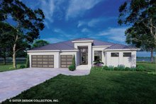 Dream House Plan - Modern Exterior - Front Elevation Plan #930-528