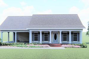 Cottage Exterior - Front Elevation Plan #44-149