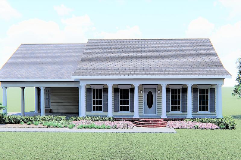 House Plan Design - Cottage Exterior - Front Elevation Plan #44-149