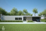 Modern Style House Plan - 3 Beds 2 Baths 1716 Sq/Ft Plan #552-4 Exterior - Front Elevation