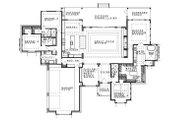 Contemporary Style House Plan - 4 Beds 4 Baths 3536 Sq/Ft Plan #935-18 Floor Plan - Main Floor Plan