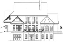 Colonial Exterior - Rear Elevation Plan #119-108